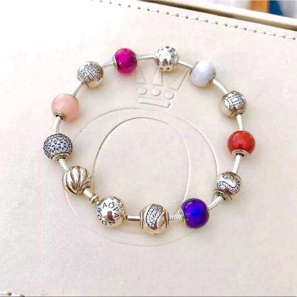 77ea879c1 Pandora Jewelry   Essence Bracelet 12 Charms Set 75   Poshmark
